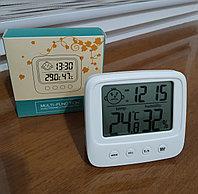 Термометр гигрометр с часами и будильником CX-260