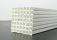 Труба полипропиленовая квадратная 50х35х5000 мм цвет - серый