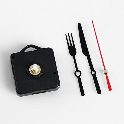 """Набор, часовой механизм 3268 с подвесом, комплект стрелок """"Вилка, ножик"""" черные, 50/75/65"""