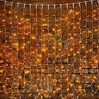 """Гирлянда """"Светодиодный Дождь"""" - 2х1,5 метра, 360 лампочек, желтый цвет, светит постоянно"""