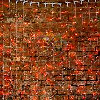 """Гирлянда """"Светодиодный Дождь"""" - 2х1,5 метра, 360 лампочек, красный цвет, светит постоянно"""