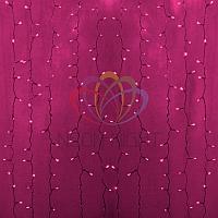 """Гирлянда """"Светодиодный Дождь"""" - 2х1,5 метра, 360 лампочек, розовый цвет, светит постоянно"""