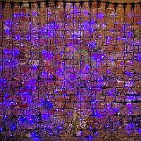 """Гирлянда """"Светодиодный Дождь"""" - 2х1,5 метра, 360 лампочек, синий цвет, светит постоянно"""