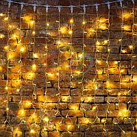 """Гирлянда """"Светодиодный Дождь"""" - 2х1,5 метра, 360 лампочек, тепло-белый цвет, светит постоянно"""