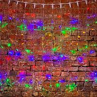 """Гирлянда """"Светодиодный Дождь"""" - 2х1,5 метра, 192 лампочек, разноцветная, светит постоянно"""