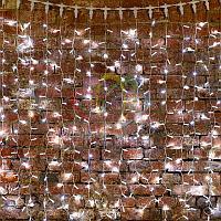 """Световая гирлянда """"Светодиодный Дождь"""" - 2х3 метра, 448 лампочек, белый цвет, светит постоянно"""