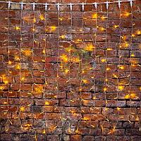"""Световая гирлянда """"Светодиодный Дождь"""" - 2х3 метра, 448 лампочек, желтый цвет, светит постоянно"""