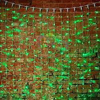 """Световая гирлянда """"Светодиодный Дождь"""" - 2х3 метра, 448 лампочек, зеленый цвет, светит постоянно"""