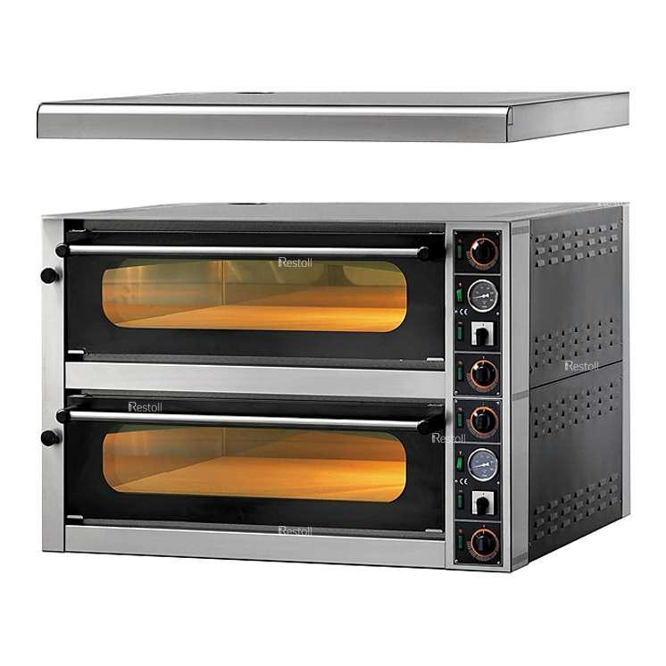 Печь для пиццы GAM MS 4+4 (FORMS44TR400) с навесом