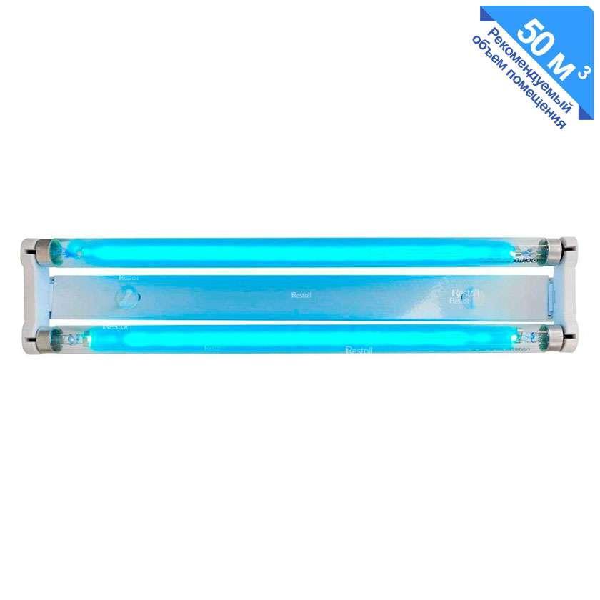 Облучатель бактерицидный настенный Оритек ОБН UV-C 35-ОЛ 2 лампы 15W + кабель 96 м3/час