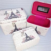 Косметичка-чемоданчик 3 в 1, Эйфелевая Башня.