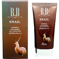 Ekel Snail BB Cream SPF50+ PA+++ - Тональный ББ-крем с экстрактом улиточного муцина