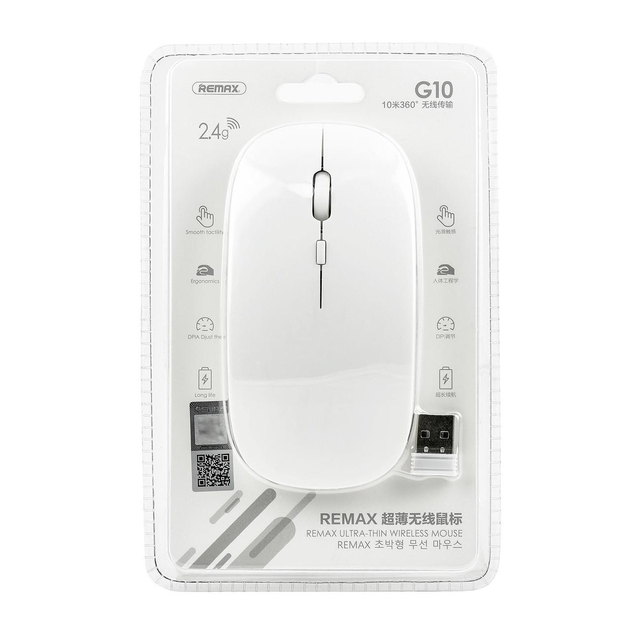 Мышь Remax G10 Ultra-Thin Wireless White