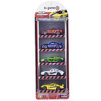 Набор гоночных машинок X-Game 5 штук