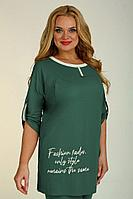 Женский осенний трикотажный зеленый большого размера джемпер Jurimex 2449-3 58р.