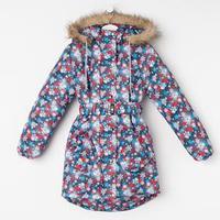 Пальто для девочки, цвет серый, рост 128-134 см