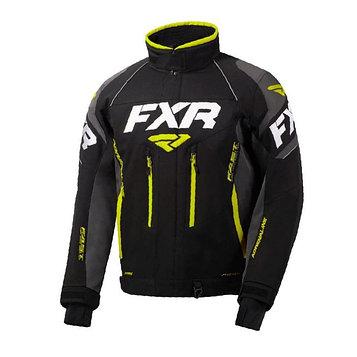 Куртка FXR Adrenaline с утепленной вставкой, размер S, чёрный, серый, жёлтый