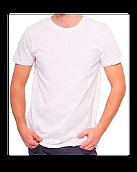 "Футболка Х/Б ""Unisex"", ткань Турция(93%Х/Б, 7%лайкра) цвет: ,белый, р-р: 38(4XS)"
