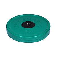 Диск олимпийский d=51 мм цветной 50 кг, цвет зелёный