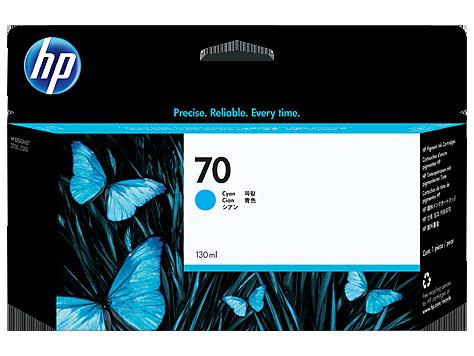 HP C9452A Картридж голубой HP 70 для Designjet Z3100, Z5200, Z2100, Z3200, Z5400