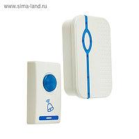 Звонок LuazON LZDV-28, беспроводной, 2хAA (не в комплекте), LR23A, бело-голубой