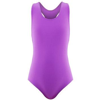 Купальник для плавания сплошной, фиолетовый, размер 30