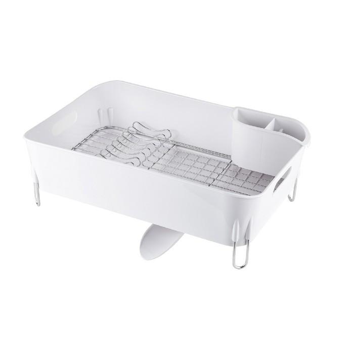 Сушилка для посуды Bianka, нержавеющая сталь, 51 х 33 х 17 см, цвет белый