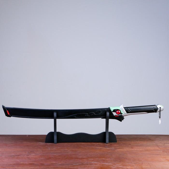 Сув. изделие Катана на подставке, черная в стиле Аниме, 75см, клинок 47см