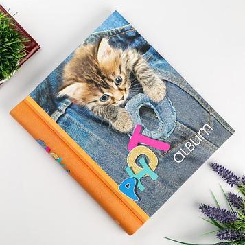 """Фотоальбом магнитный 23Х28 см 20 листов """"Котёнок"""""""