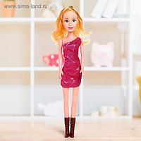 Кукла ростовая «Лера» в платье, звук, высота 42 см, МИКС