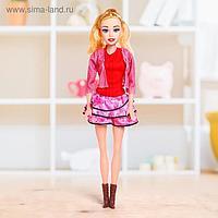 Кукла ростовая «Лера» звук, в платье, высота 53 см