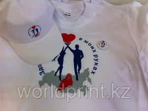 Нанесение фото, надписи, логотипа на футболку, кружку, кепку