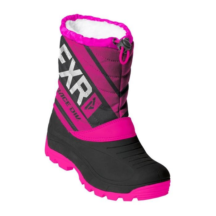 Ботинки детские FXR Octane, размер 29, чёрный, фиолетовый