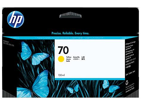 HP C9454A Картридж желтый HP 70 для Designjet Z3100, Z5200, Z2100, Z3200, Z5400