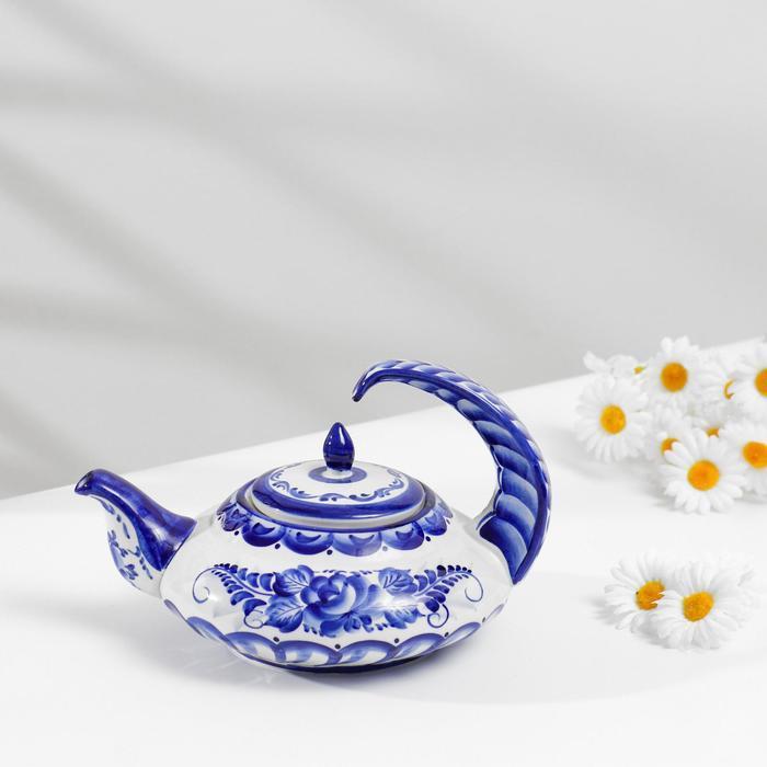 """Чайник """"Нежность"""" ,750 мл., гжель"""