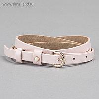 Ремень женский, гладкий, пряжка золото, ширина - 1 см, цвет розовый