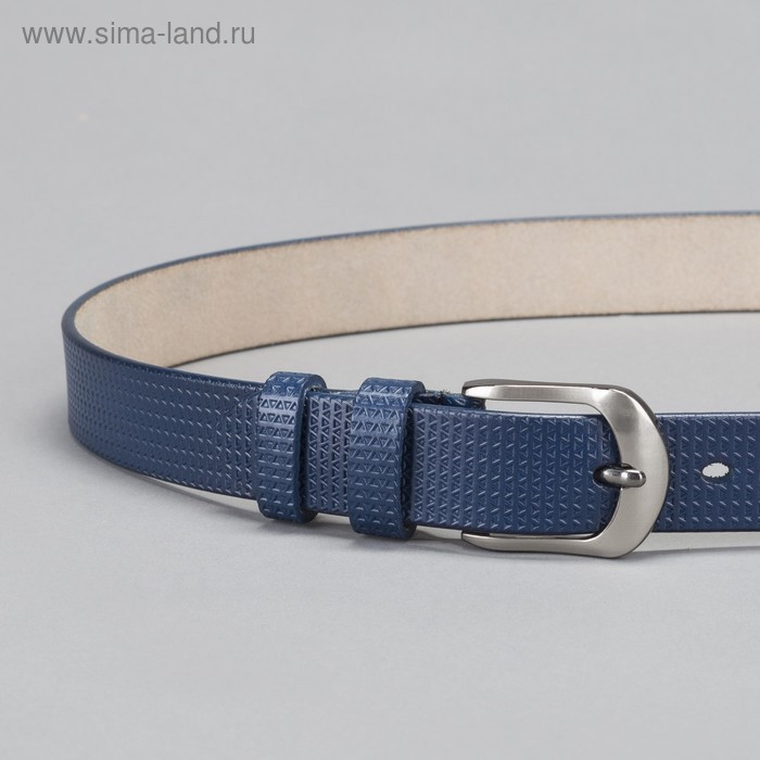 Ремень женский, пряжка тёмный металл, ширина - 2,6 см, цвет синий - фото 2