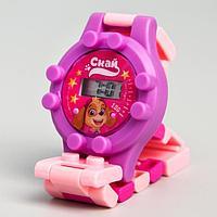 """Щенячий патруль. Часы наручные лего """"Скай"""", с ремешком-конструктором, PAW PATROL"""