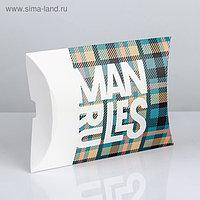 Коробка складная фигурная Man Rules, 26 × 19 × 4 см