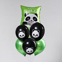 Букет из шаров «Панда», фольга, латекс, набор 7 шт.