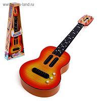 Игрушка музыкальная гитара «Стиль», звуковые эффекты, цвета МИКС