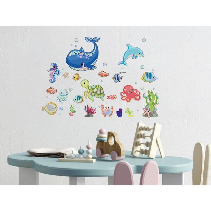 Наклейка на голографической пленке «Подводный мир», интерьерная, 30 х 35 см - фото 2
