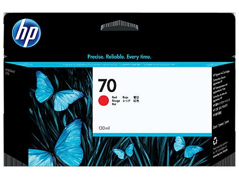 HP C9456A Картридж красный HP 70 для Designjet Z3100, Z5200, Z2100, Z3200, Z5400