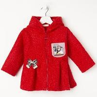 Пальто для девочки, цвет красный, рост 92 см