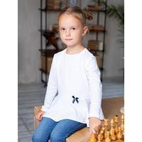 Школьная блузка для девочки, цвет белый, рост 122 см
