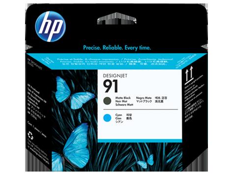 HP C9460A Печатающая головка черный матовый и голубой HP 91 для Designjet Z6100 серии