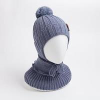 Комплект (шапка, снуд) для мальчика, цвет серый, размер 44-47 см (9-18 мес.)