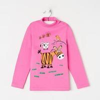 Водолазка для девочки, цвет розовый, рост 110 см