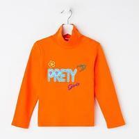 Водолазка для девочки, цвет оранжевый, рост 86-92 см