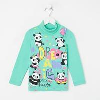 Водолазка для девочки, цвет мятный/панды, рост 86 см